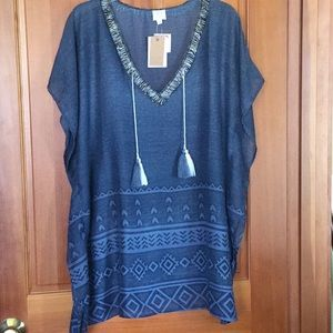 Surf Gypsy swim suit coverup, small, NWT